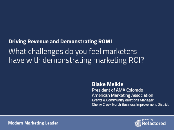 Everyone measures ROI differently
