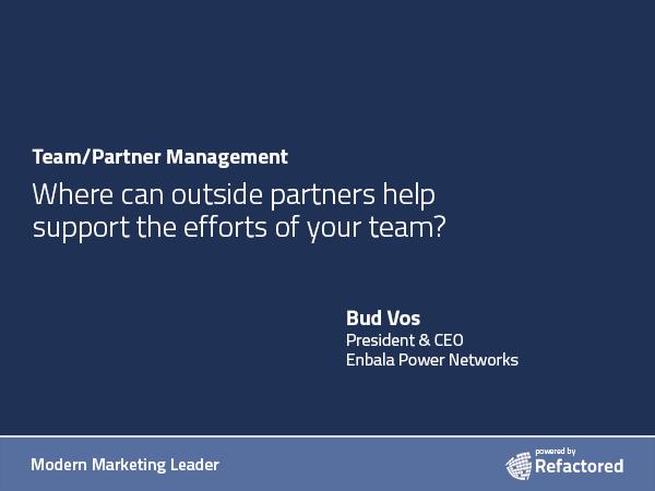 Partners provide outside thinking