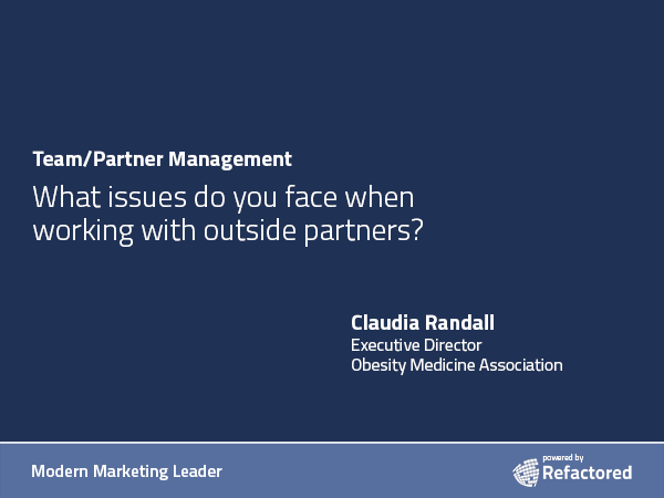 Does a new outside partner understand your business?