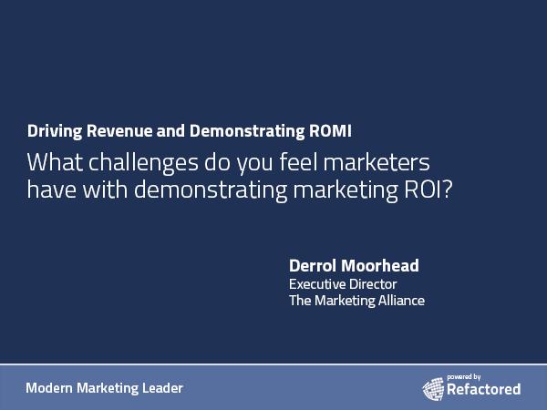 Marketing is a revenue driver