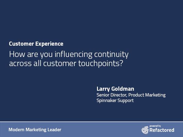 Speaking the customer's language